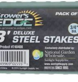 "Grower's Edge Grower's Edge Deluxe Steel Stake 3/4"" Diameter 8 ft."