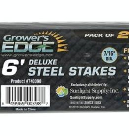 "Grower's Edge Grower's Edge Deluxe Steel Stake 7/16"" Diameter 6 ft."