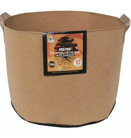 Gro Pro Gro Pro Essential Round Fabric Pot w/ Handles 10 Gallon - Tan