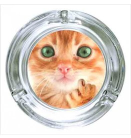 "Stonerware Stonerware 4.25"" Round Glass Ashtray - Kitten Finger"