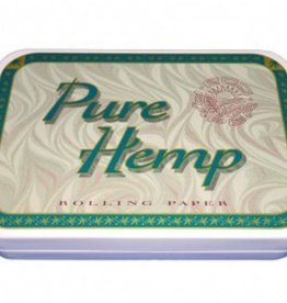 "Pure Hemp Pure Hemp 3 3/4"" x 2 1/2"" Tin - Classic Pure Hemp"