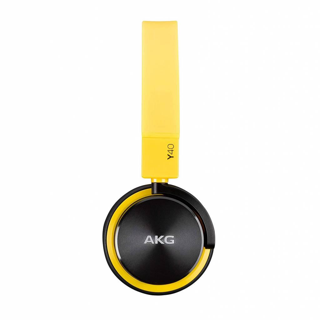 AKG Y40 Mini Headphones With Mic/Remote - Yellow