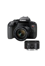 Canon EOS Rebel T7I DSLR Camera with 18-55 mm and  50mm f1.8 Lens kit