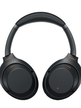 Sony WH-1000XM3/B - Over ear - Headphones with mic - wireless - noise canceling - black