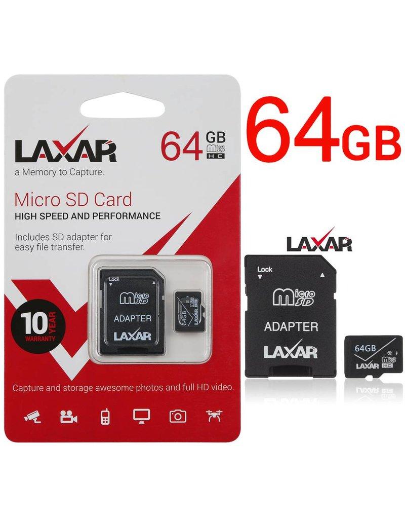 LAXTEK 64GB Micro SD carte