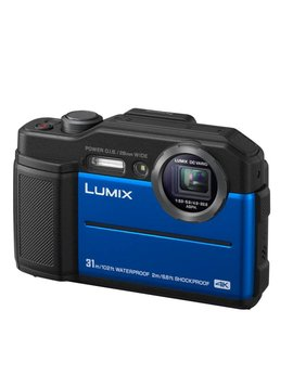 Panasonic TS7 Lumix 20MP 4.6X Wide Angle 4K Waterproof Camera - Blue