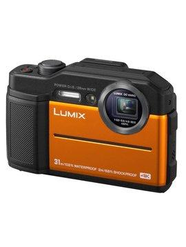 Panasonic TS7 Lumix 20MP 4.6X Wide Angle 4K Waterproof Camera - Orange