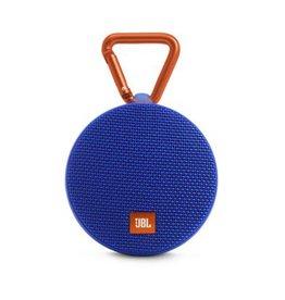 JBL Clip 2 Waterproof Portable Bluetooth Speaker, Blue