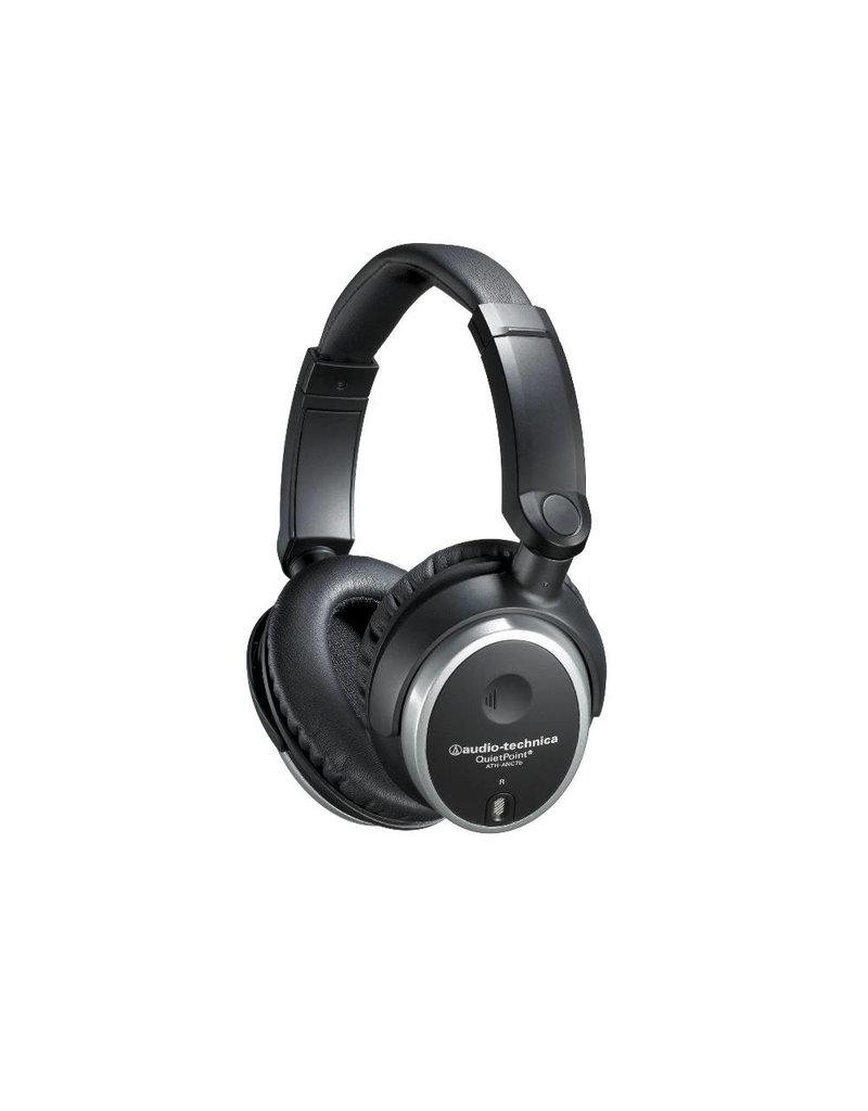 Audio-Technica ATH-ANC7B QuietPoint Active Noise-Cancelling   Headphones Closed-Back