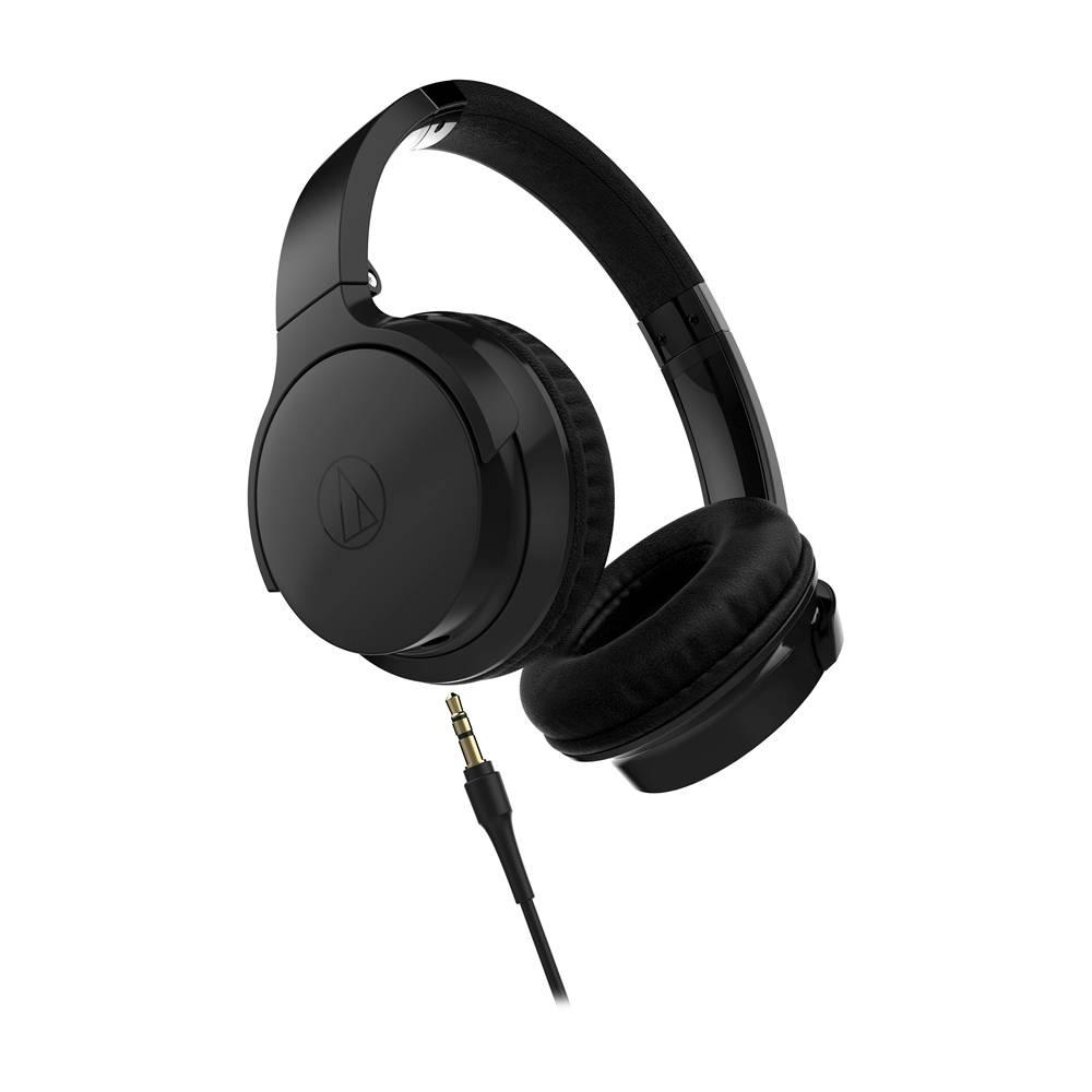 Audio-Technica ATH-AR3iSBK SonicFuel ecouteur sur l'oreille avec mic et controles-Noir