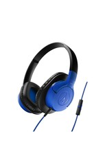 Audio-Technica ATH-AX1iSBL SonicFuel Over-Ear Headphones for Smartphones, Blue