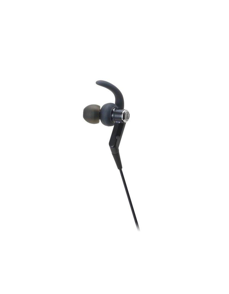 Audio-Technica ATHCKP500BK Sporfit In-ear Headphones, Black
