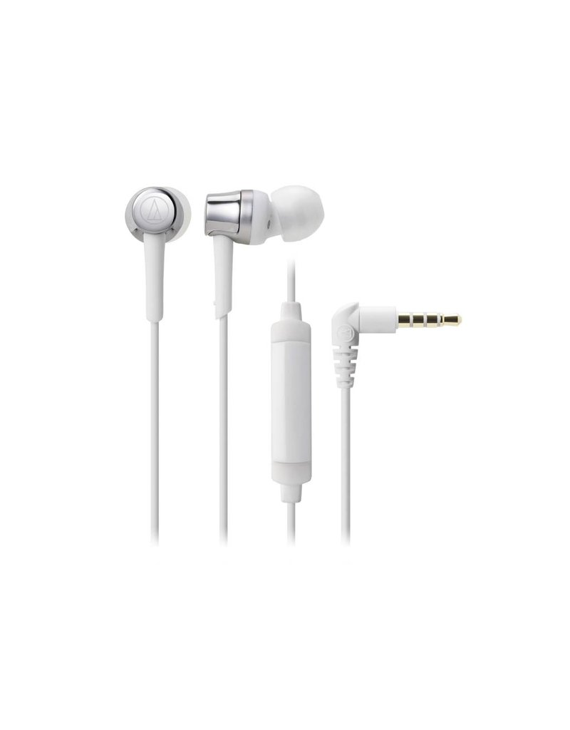 Audio-Technica ATH-CKR30iSSV    SonicFuel In-Ear Headphones - White/silver