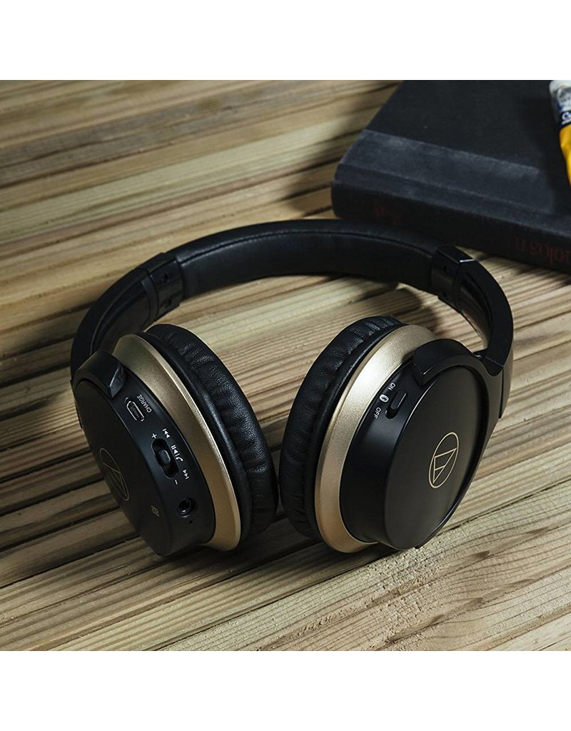 Audio-Technica ATHAR3BTBK  SonicFuel ecouteur sur l'oreille sans fil- Noir