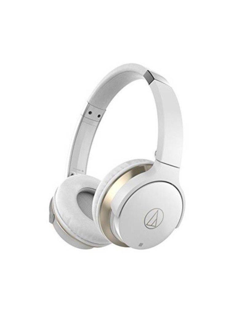 Audio-Technica ATHAR3BTWH  SonicFuel ecouteur sur l'oreille sans fil- Blanc