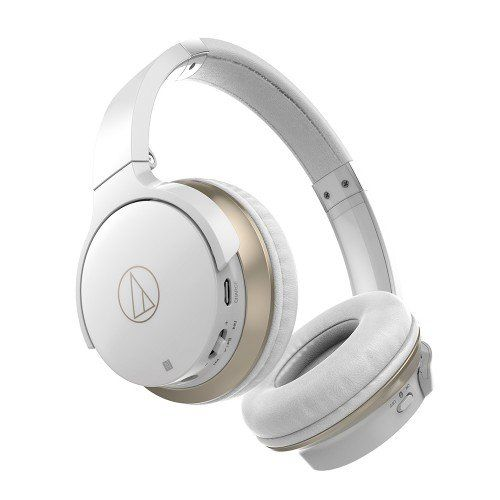 Audio-Technica ATHAR3BTWH  Consumer SonicFuel Wireless On-Ear Headphones - White