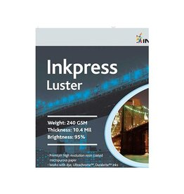 Inkpress PCL851150 Commercial Luster Inkjet Paper 8.5in. X 11in. 50 Sheets