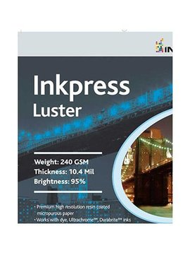 Inkpress PCL851150 Commercial Luster Inkjet Paper 8.5in. X 11in. 50 Sheets