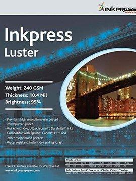 Inkpress PCL111720 Lustre 240 GSM, 10.4 Mil, 94 Pourcent de papier brillant