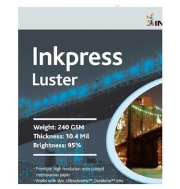 Inkpress PCL111420 Commercial Lustre papier jet d'encre 11in. X 14in. 20 Feuilles
