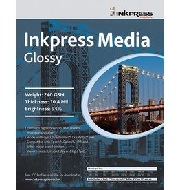 Inkpress PCUG111750 MEDIA  240 GSM, 10.4 Mil, 94 Percent Bright Paper