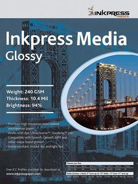 Inkpress PCUG111750 MEDIA 240 GSM, 10.4 Mil, 94 Pourcent de papier brillant