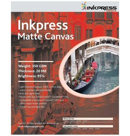 Inkpress ACW851110 MEDIA Matte Canvas 8.5 x 11 pouce papier