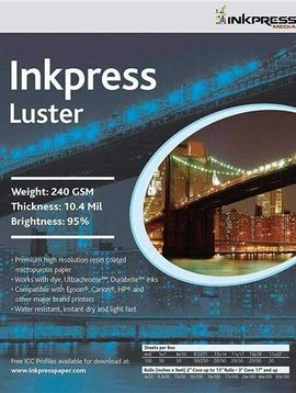 """Inkpress PCL5750 Lustre et brillant 240 GSM ,5 x 7""""- 50 Feuilles"""