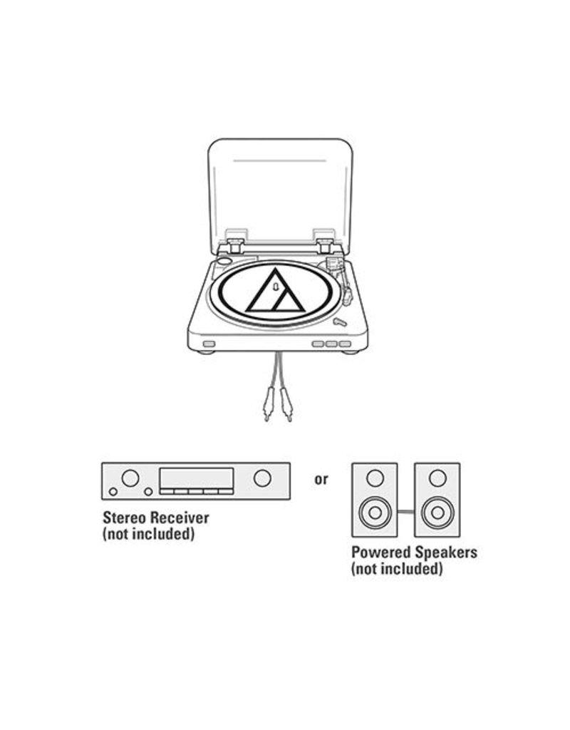 Audio-Technica  AT-LP60BK -Système de tourne-disque stéréo automatique-Noir