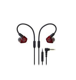 Audio-Technica ATH-LS200iS Ecouteurs intra-auriculaires -Rouge/Noir