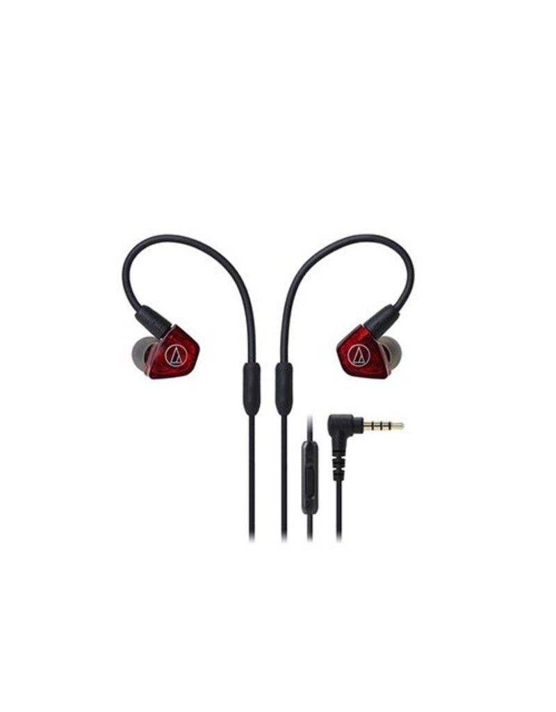 Audio-Technica ATH-LS200iS In-Ear Headphones - Red/black
