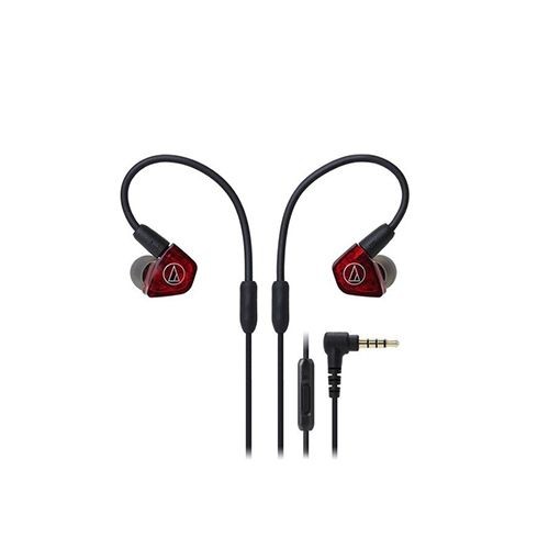 Audio-Technica ATH-LS200iS In-Ear Headphones - Red/black