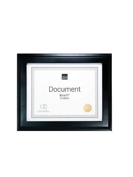 Kiera Grace Document/Photo Frame 8.5x11 - Black