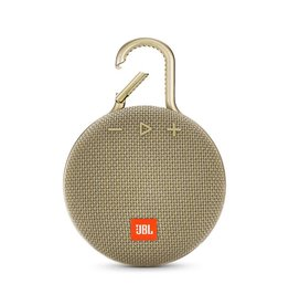 JBL Clip 3 Waterproof Portable Bluetooth Speaker, Sand