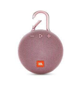 JBL Clip 3 Waterproof Portable Bluetooth Speaker, Pink