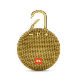 JBL Clip 3 Waterproof Portable Bluetooth Speaker, Yellow