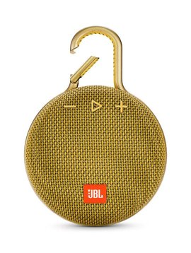 JBL Clip 3 Waterproof Portable Bluetooth Speaker, Yellow