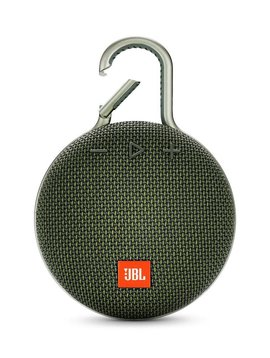 JBL Clip 3 Waterproof Portable Bluetooth Speaker, Green