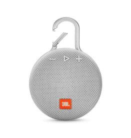 JBL Clip 3 Waterproof Portable Bluetooth Speaker, White