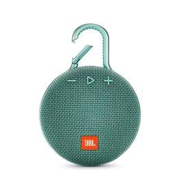 JBL Clip 3 Waterproof Portable Bluetooth Speaker, Teal