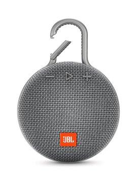 JBL Clip 3 Waterproof Portable Bluetooth Speaker, Gray