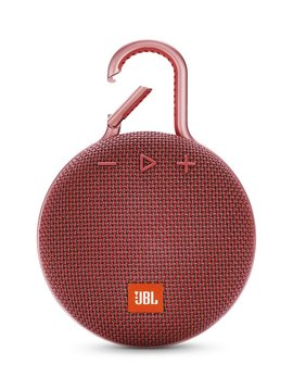 JBL Clip 3 Waterproof Portable Bluetooth Speaker, Red