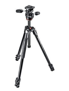 Manfrotto 290 EXTRA Aluminium 3-Section Tripod Kit  with 3-Way Head