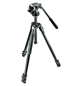 Manfrotto 290 EXTRA Aluminium 3-Section Tripod Kit  with Fluid Head