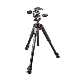 Manfrotto MK055XPRO3-3W Aluminium 3-Section Tripod with 3-Way Head