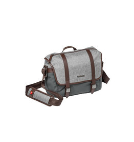Manfrotto MB LF-WN-MS Windsor Messenger S, Sac d'épaule pour hybride et tablette-gris
