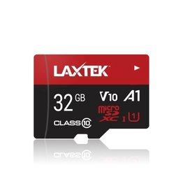 LAXTEK 32GB microSDHC UHS-I carte mémoire  + adaptateur