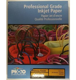 Glossy Paper 8.5x11 - pack 100