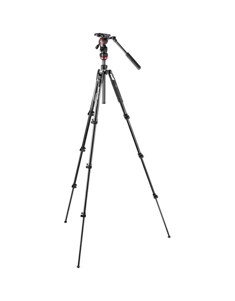 Manfrotto MVKBFRL Live Aluminum Lever-Lock Tripod Kit with EasyLink + case