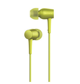 Sony MDR-EX750AP - Earphones with mic - in-ear - 3.5 mm jack - lime yellow